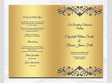 7  Wedding Dinner Program Templates   PSD, AI   Free & Premium Templates