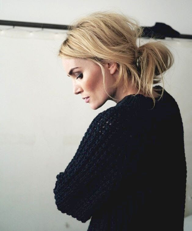 Le Fashion Blog Hair Inspiration Low Messy Bun Textured Wavy Up Do Black Waffle Knit Sweater Camilla Pihl photo Le-Fashion-Blog-Hair-Inspiration-Low-Messy-Bun-Textured-Wavy-Up-Do-Black-Waffle-Knit-Sweater-Camilla-Pihl.jpg