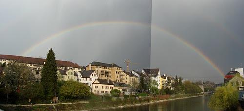 Regenbogen am Zürcher Himmel 20.4.2010