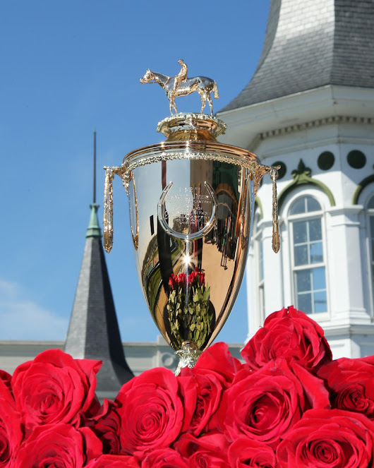 The solid gold trophy that will go to the winner of the 2016 Kentucky Derby and three smaller replica trophies to be presented to the winning trainer, jockey and breeder arrived Wednesday, April 13 at Churchill Downs | 2016 Kentucky Derby & Oaks  |  May 6 and 7, 2016  |  Tickets, Events, News