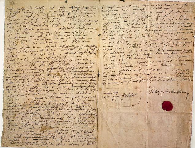 testamento beethoven, beethoven testament, testamento de Heiligenstadt, heiligenstadt