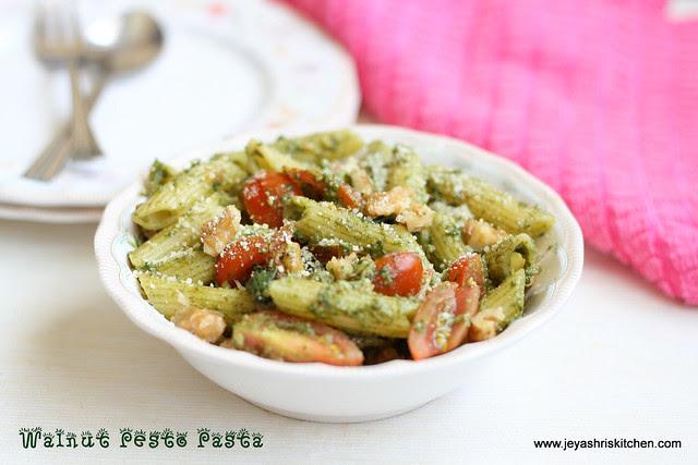 basil pesto-pasta