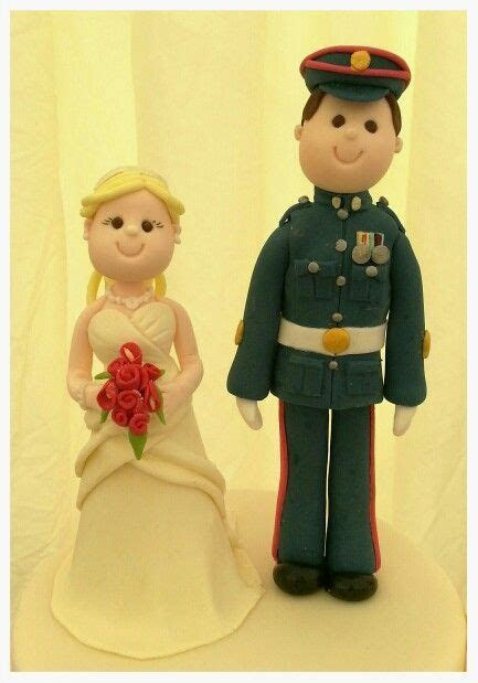 British Army wedding toppers :)   Wedding Cake toppers