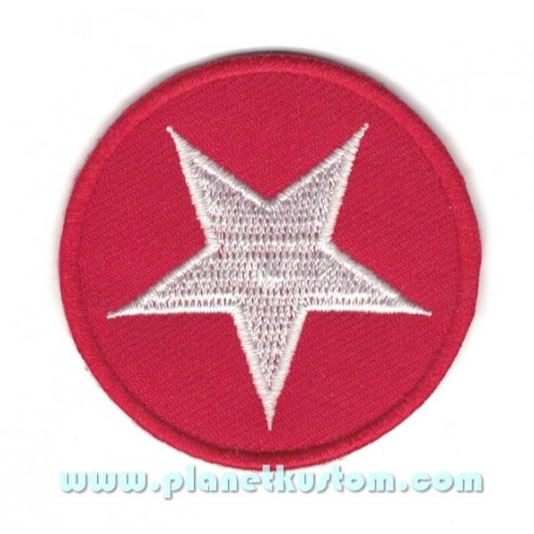 Patch Ecusson étoile Blanche Dans Rond Rouge White Star