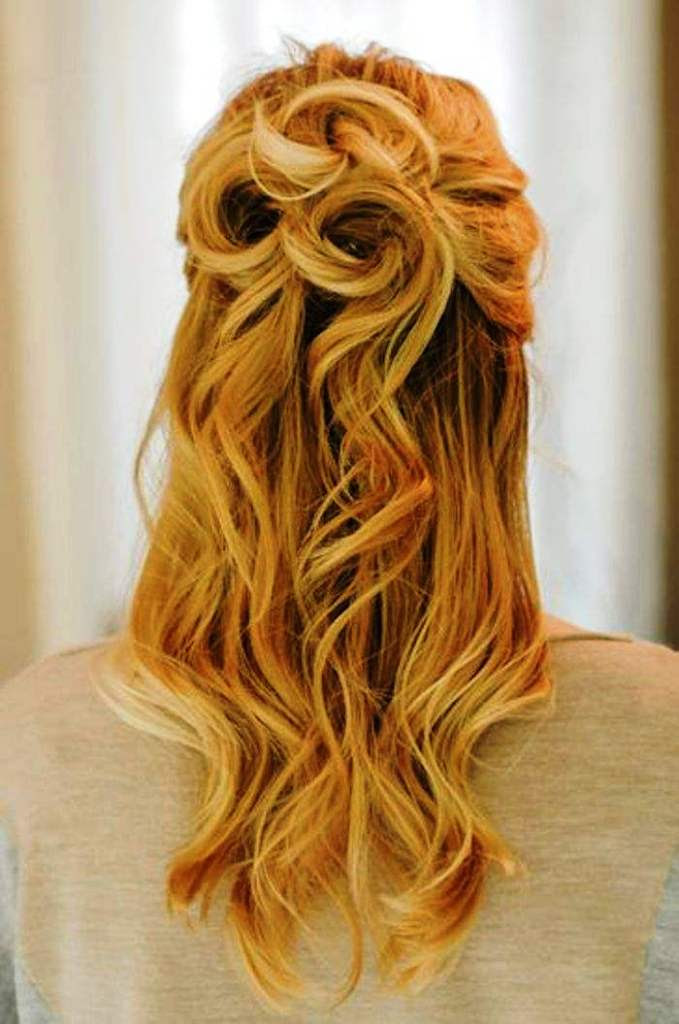 20 Elegant Half Up Half Down Curly Hairstyles Ideas ...