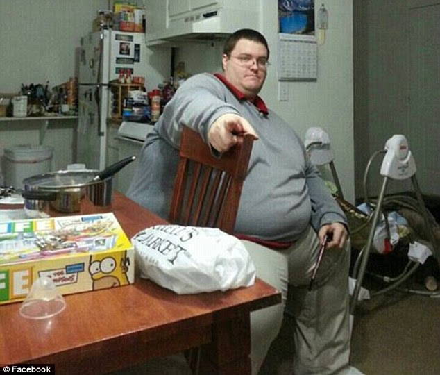 Depressed and obese: In less than two years, Brian Flemming lost 365lb from his six-foot-two frame with the encouragement of Jackie Eastham