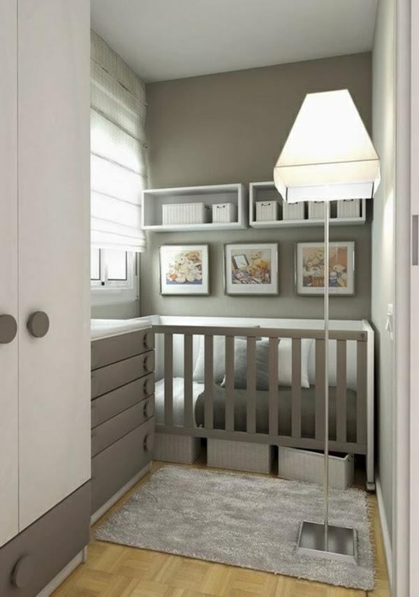 Babyzimmer gestalten mit offenen Regalen  Ordnung und Behaglichkeit