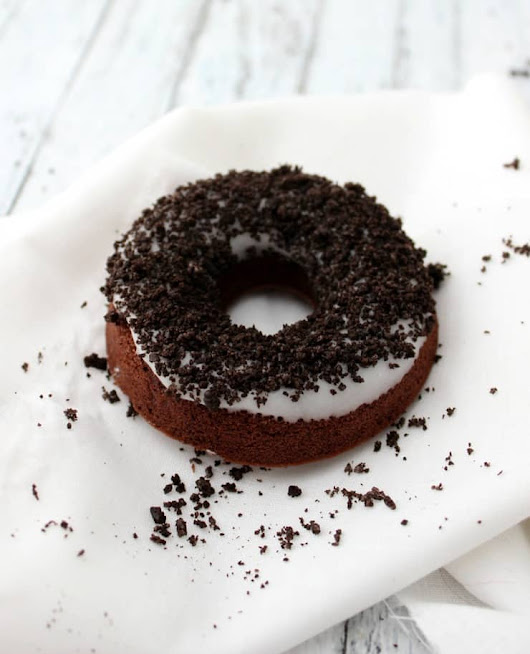 Chocolate Cookies and Cream Doughnuts - The Simple, Sweet Life