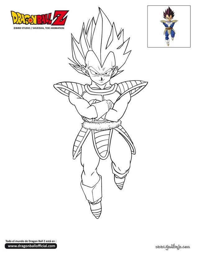 Dibujos Para Colorear De Dragon Ball Z Vegeta Imagesacolorierwebsite