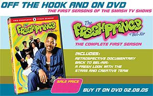 Ad for The Fresh Prince of Bel-Air DVD, released today.