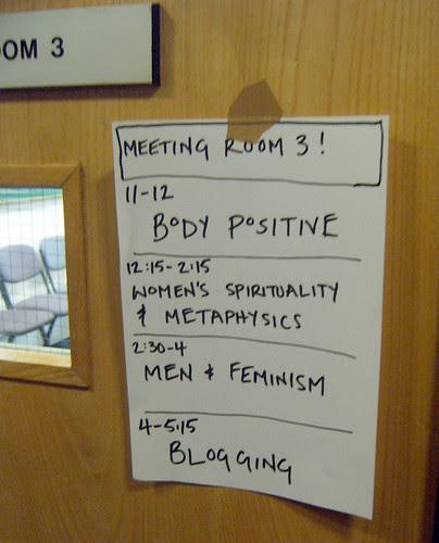 Ladyfest room - blogging workshop