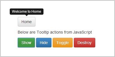 Tooltips in Bootstrap