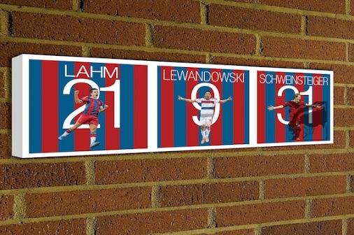 FC Bayern München Canvas #Lahm http://etsy.me/1AjTDuq #MiaSanMia #FCBayern #bayern #munich #Lewandowski...