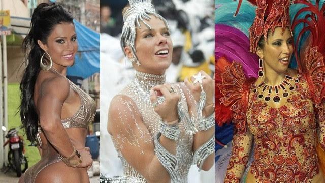 Gracyanne Barbosa, Adriane Galisteu e Patrícia Nery: fogueira das vaidades no carnaval carioca