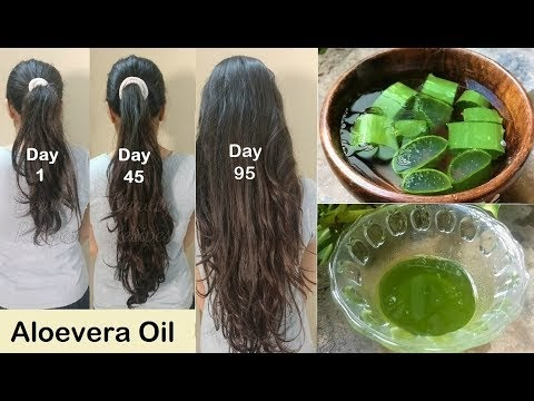 Homemade Aloevera Hair Oil for Double Hair Growth - Aloevera Gel to get