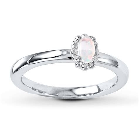 Stackable Ring Lab Created Opal Sterling Silver