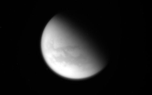 An image of Saturn's moon Titan that was taken by NASA's Cassini spacecraft on April 21, 2017.