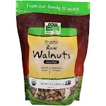 NOW Foods NOW Real Food Organic Raw Walnuts Halves & Pie Unsalted 12 oz.