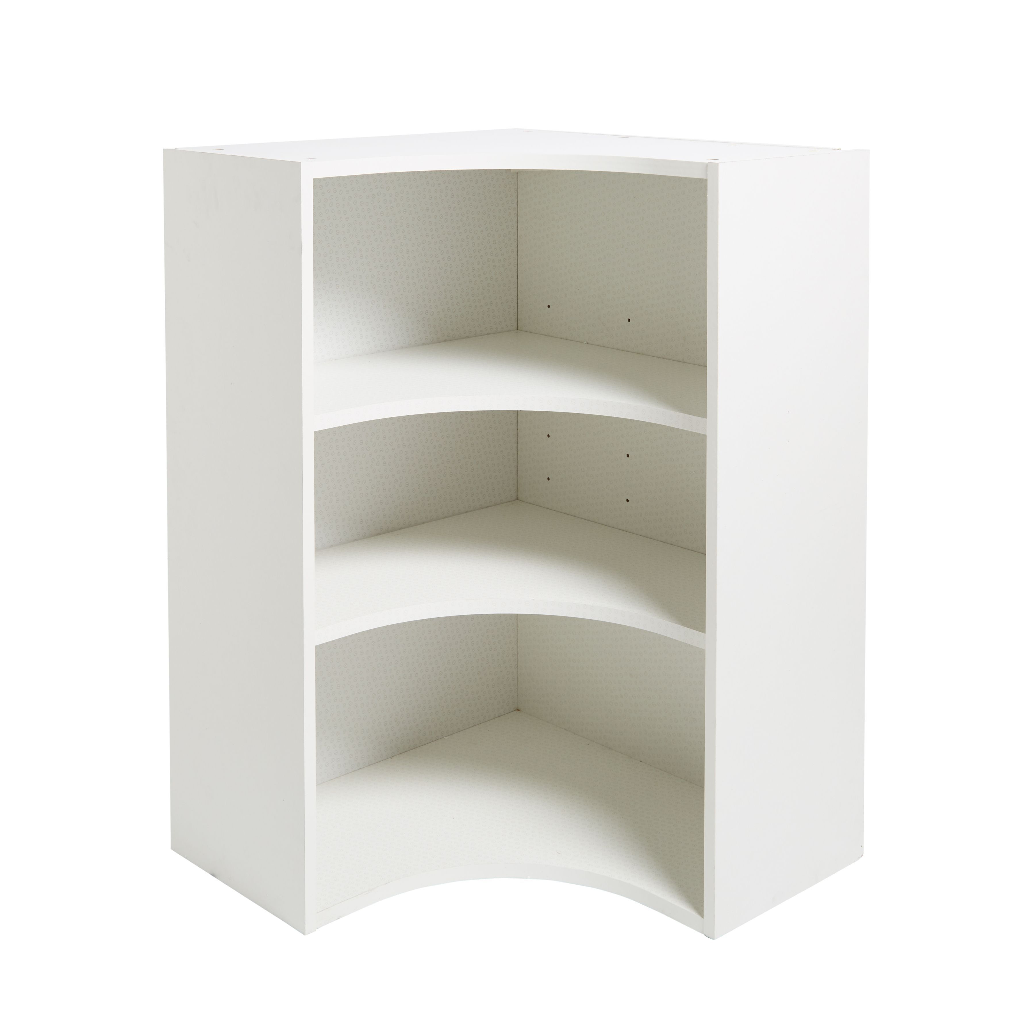 IT Kitchens White Curved Corner Tall Wall Cabinet (W)625mm ...
