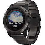 Garmin 010-01989-04 Unisex fēnix 5X Plus Titanium GPS Smartwatch