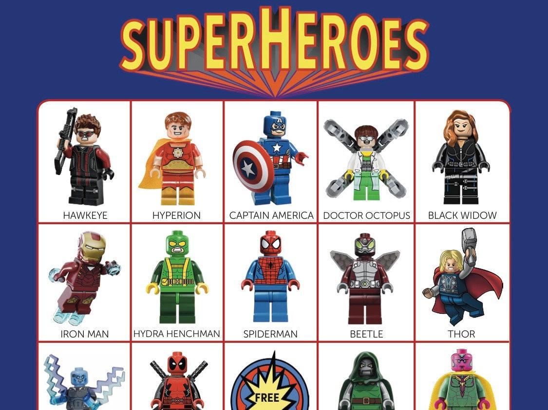 Superhero bingo | Etsy