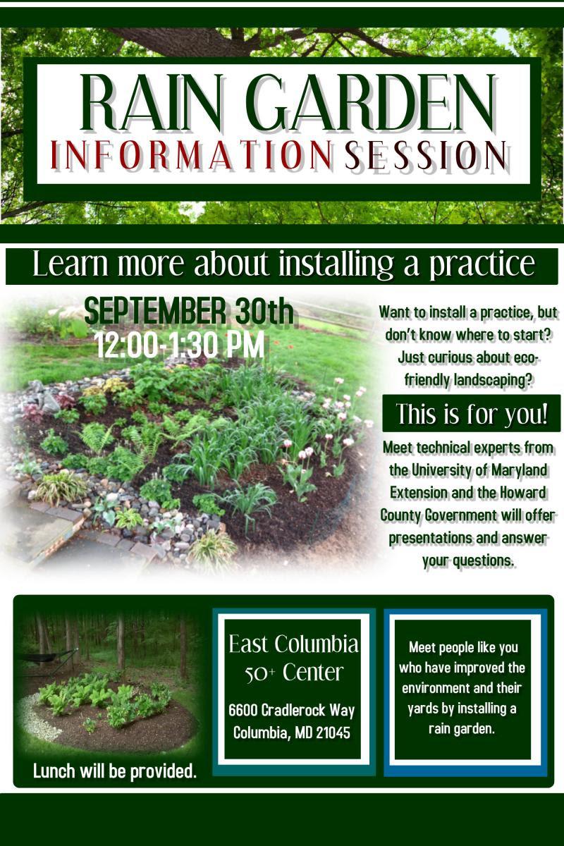 Rain garden information session