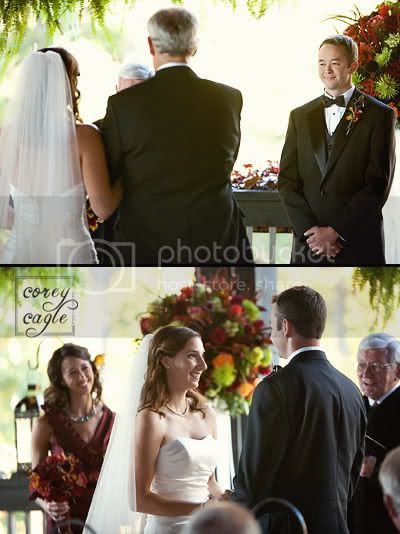 Wedding at Lioncrest in fall