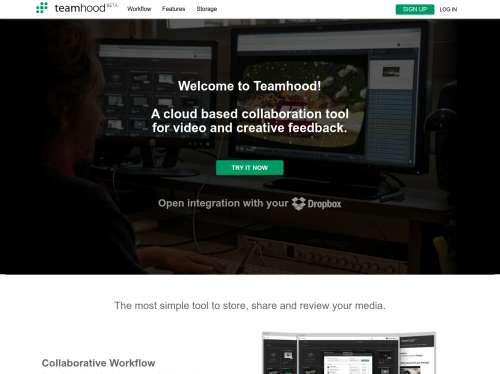 Teamhood: Cloud based collaboration platform to share and review media files
