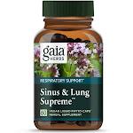 Gaia Herbs, Sinus & Lung Supreme, 60 Vegan Liquid Phyto Caps