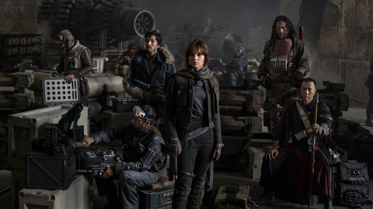 Rogue One - Uma História Star Wars : Foto Diego Luna, Donnie Yen, Felicity Jones, Jiang Wen, Riz Ahmed