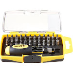 Wilmar Corp. / Performance Tool W9159 Performance Tool 38-piece Ratcheting Screwdriver Set With Assorted Bits In Storage Case