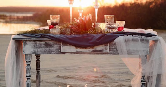airy sunset elopement with nautical notes