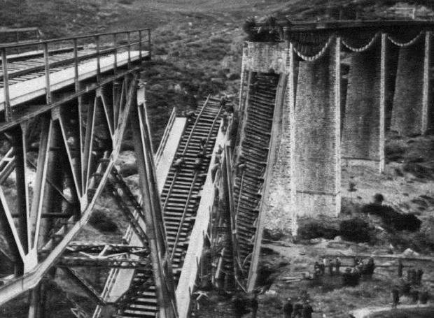 Η κατεστραμμένη γέφυρα του Γοργοποτάμου