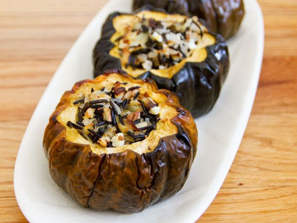 Baked Acorn Squash with Wild Rice, Pecan and Cranberry Stuffing | Serious Eats : Recipes
