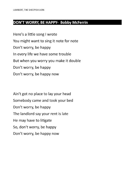Here Is A Little Song I Wrote Lyrics