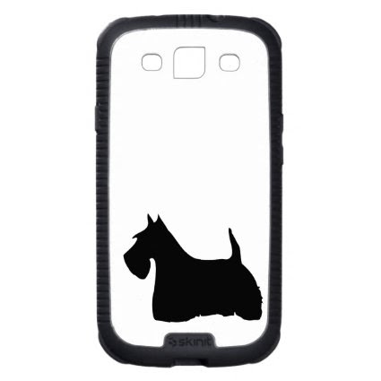 Scottish Terrier dog cute black silhouette, gift Galaxy S3 Cover