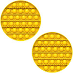 Fidget Pack Pop Pop – 4 pcs Pop Up Fidget Toys for Kids – Stress Relief Fidgets – Anti Stress Squeeze Toys (4 x Orange) (Set: 2 x Yellow)