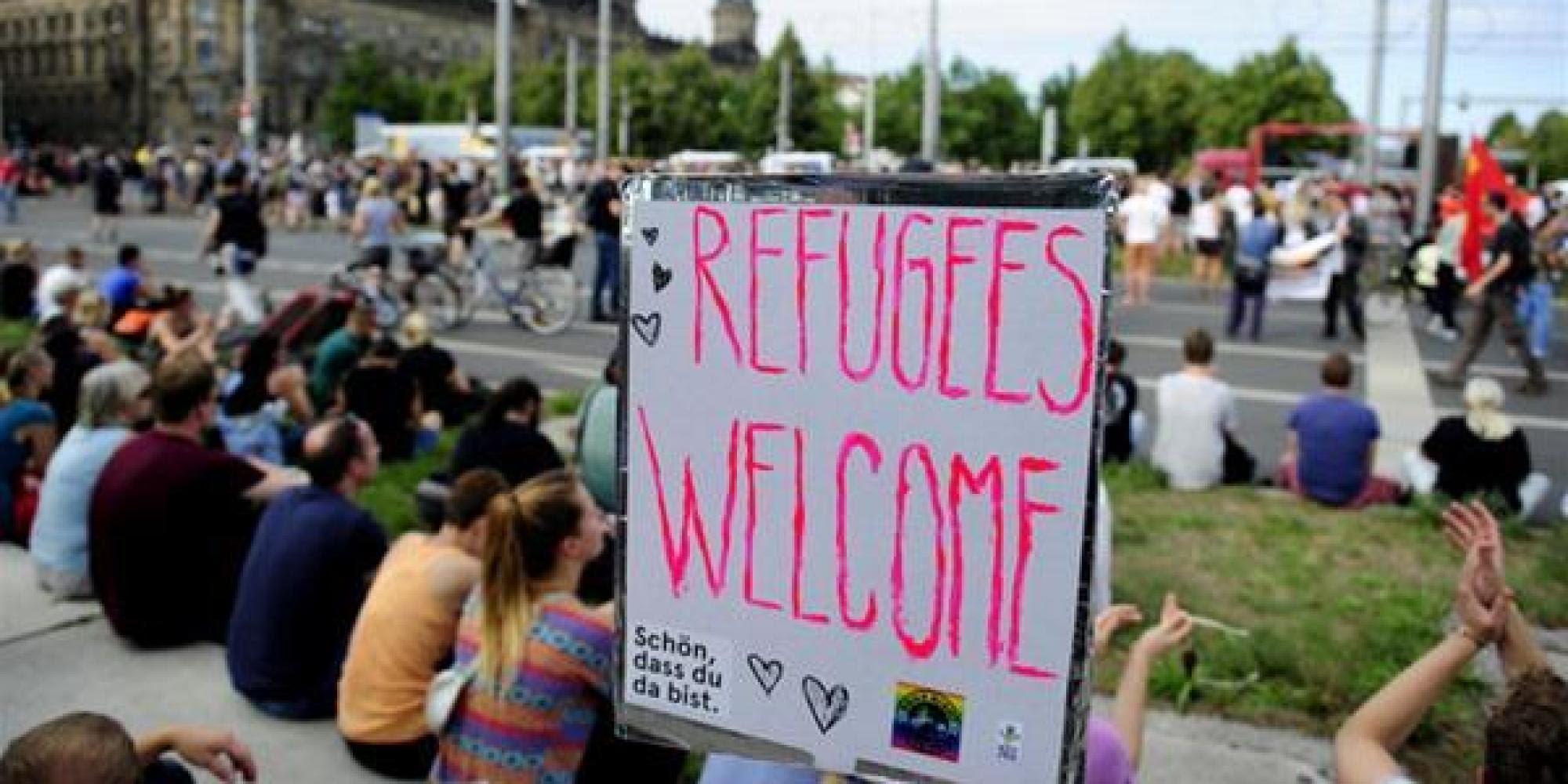 Résultats de recherche d'images pour «allemagne welcome refugees»