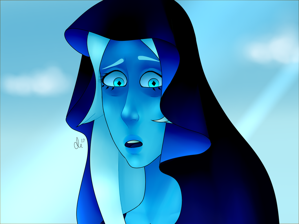 """""""I'm surprised a human being can understand how I feel..."""" Diamond screenshot redraw pt.2 I love Blue Diamond so much"""