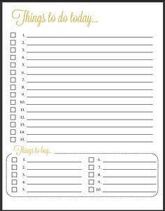 Free Printable Daily To Do List Template 43579 | NANOZINE