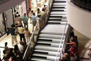 Un shopping puso un piano como el de Quisiera ser grande