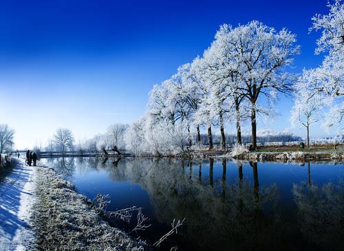 Winter - Kromme Rijn, Amelisweerd, Rhijnauwen, Utrecht por lambertwm