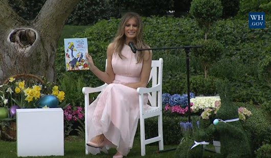 Melania Trump Reads Party Animals at White House Easter Egg Roll