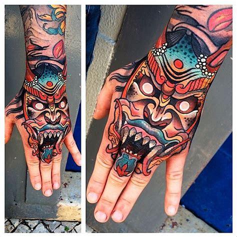 attractive japanese demon tattoo designs ideas