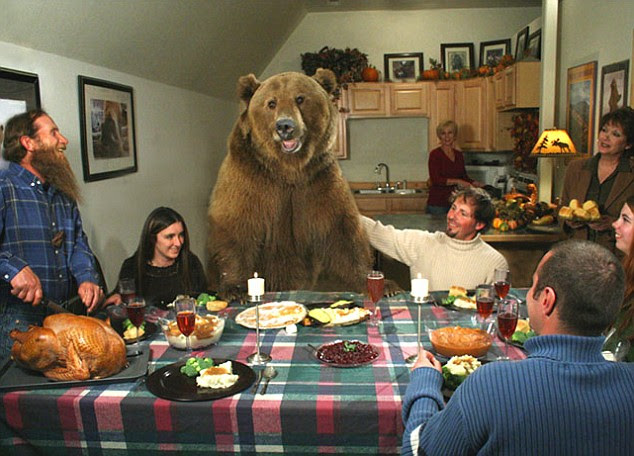 an 58-stone grizzly bear called Brutus, who he has raised since birth.
