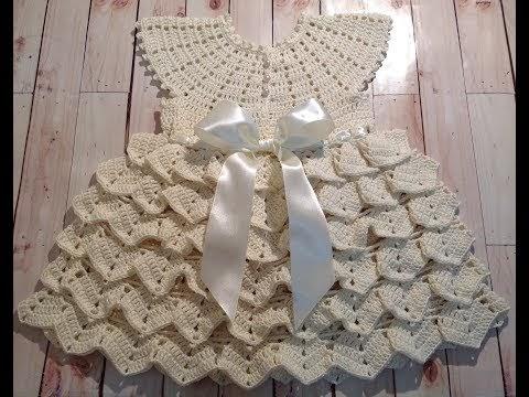 9814bc91b Coisas da Lis: Vestido de crochê tam. 3-6 meses parte 1/2
