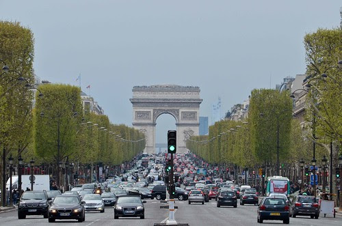 L'Arc de Trimophe from the Champs Elysees
