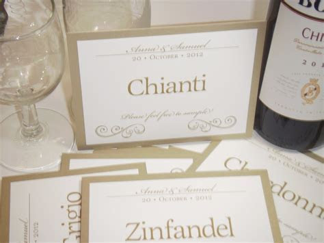 Wedding Table Names / Wedding Table Wines / Wedding Table