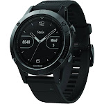 "Garmin fenix 5 Sapphire Multisport GPS Watch - 1.2"" Display - Black with Black Band"
