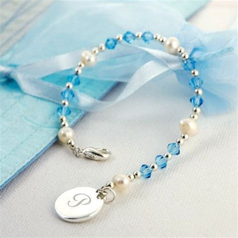Swarovski Crystal Bracelet with Monogram Charm